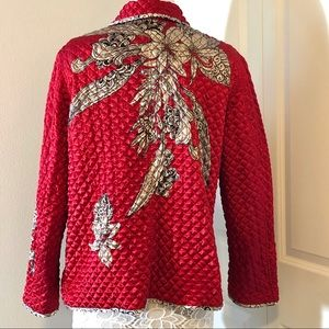 Chico's Jackets & Coats - EUC CHICO's Quilted Print Jacket Size 3